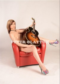 NUDE WITH GIBSON J100 GUITAR #4 R4