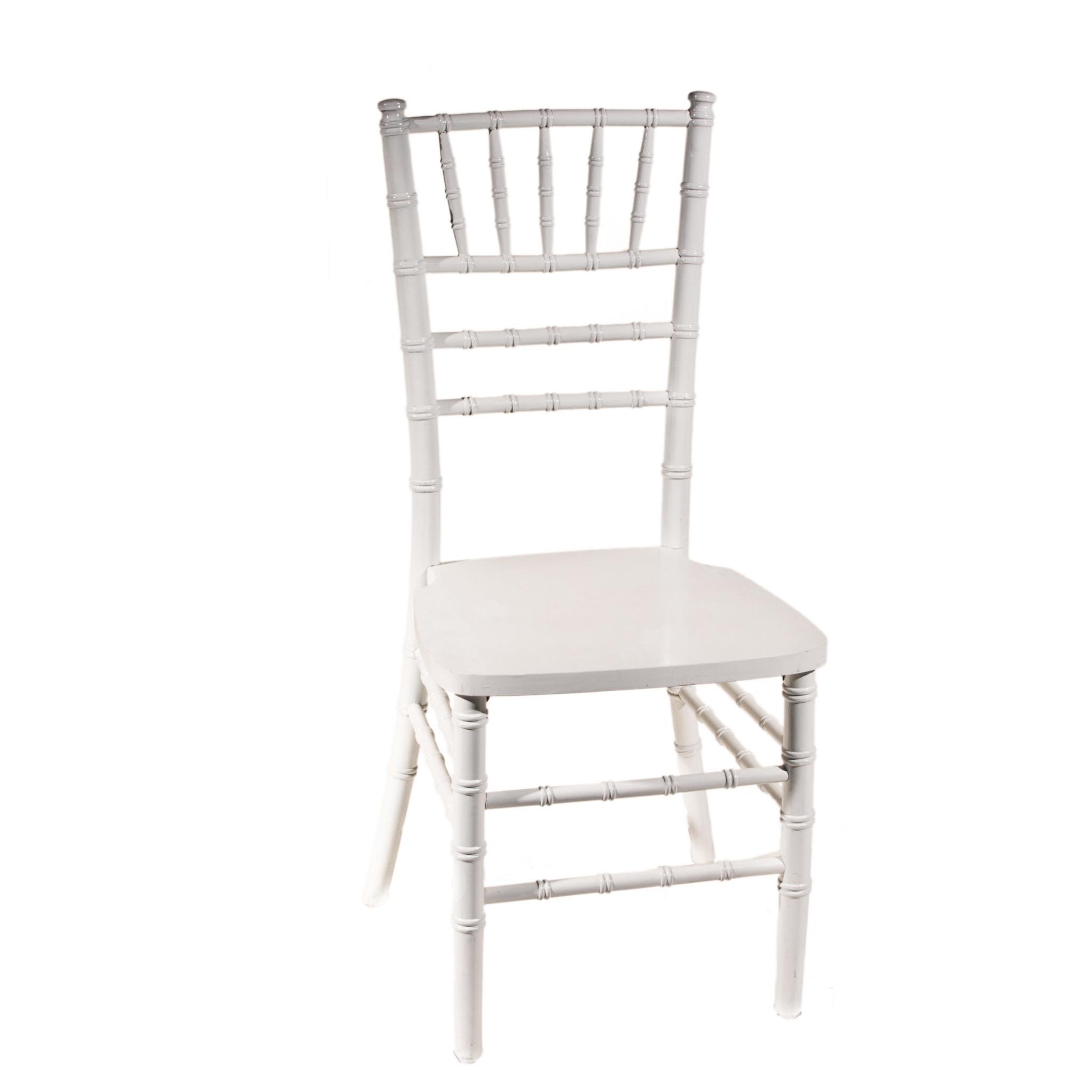 White Chiavari Chair with Cushion  Peter Corvallis