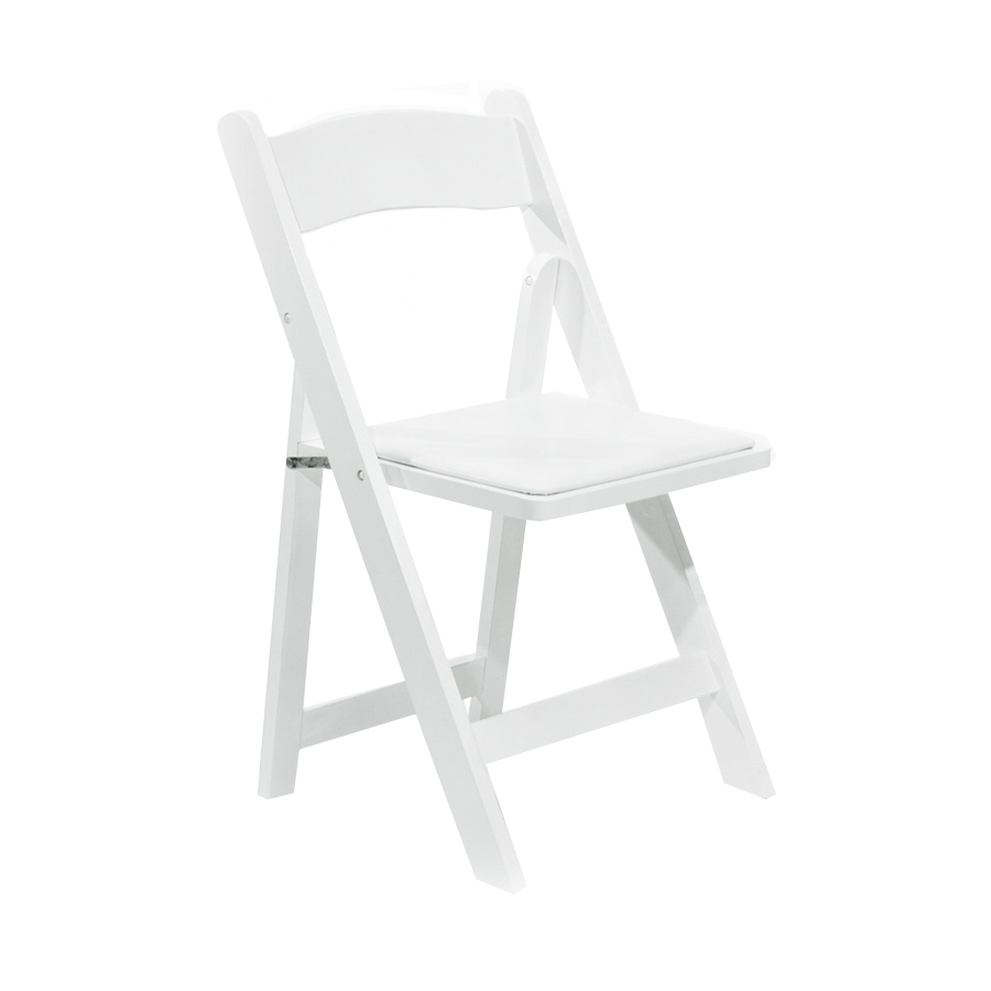 Childrens White Wood Folding Chair  Peter Corvallis