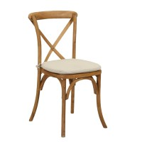 Wood Cross Back Chair  Peter Corvallis Productions