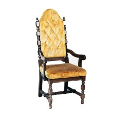 Gold Velvet Chair Back Relief Hiback Frame Accent  Peter Corvallis