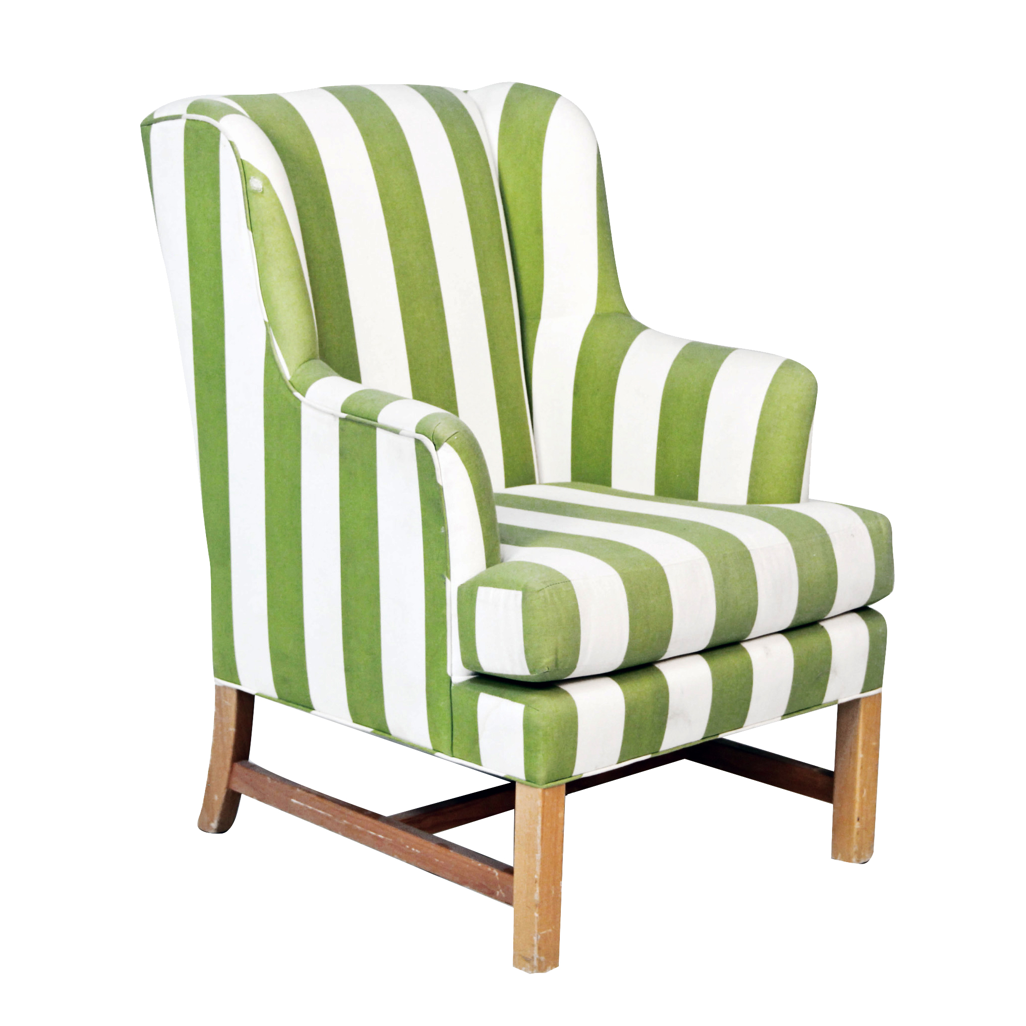 Green and White Accent Chair  Peter Corvallis Productions