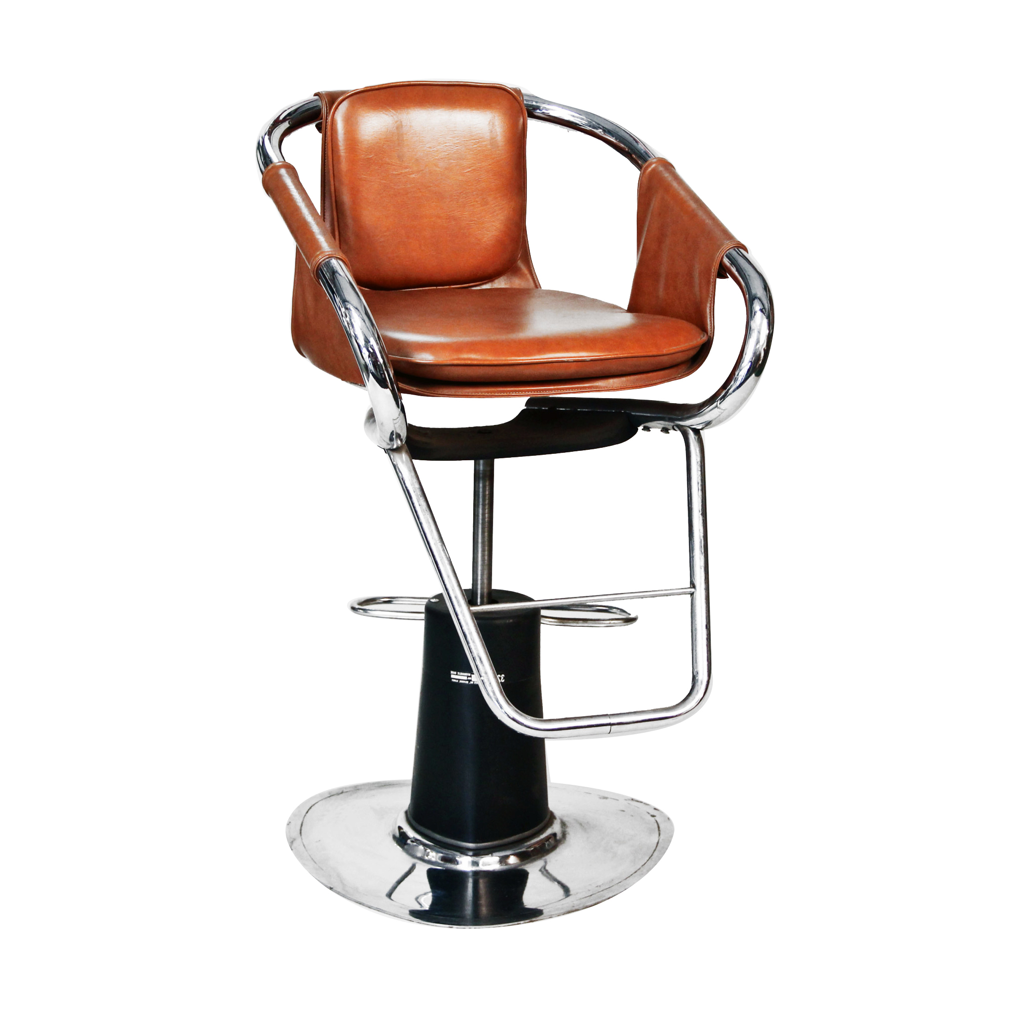 Black Leather Salon Accent Chair  Peter Corvallis Productions