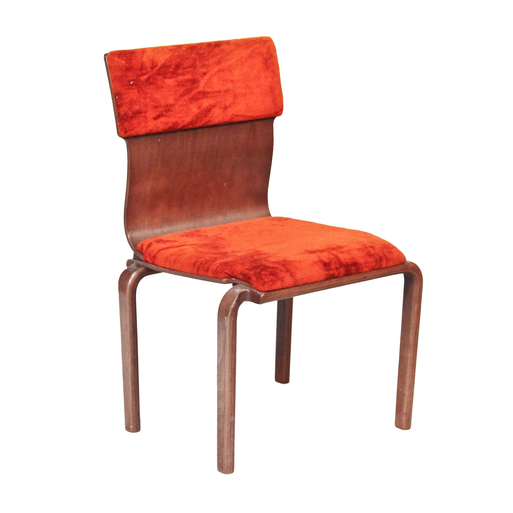 accent chair orange ergonomic canada sleigh back velvet  peter corvallis