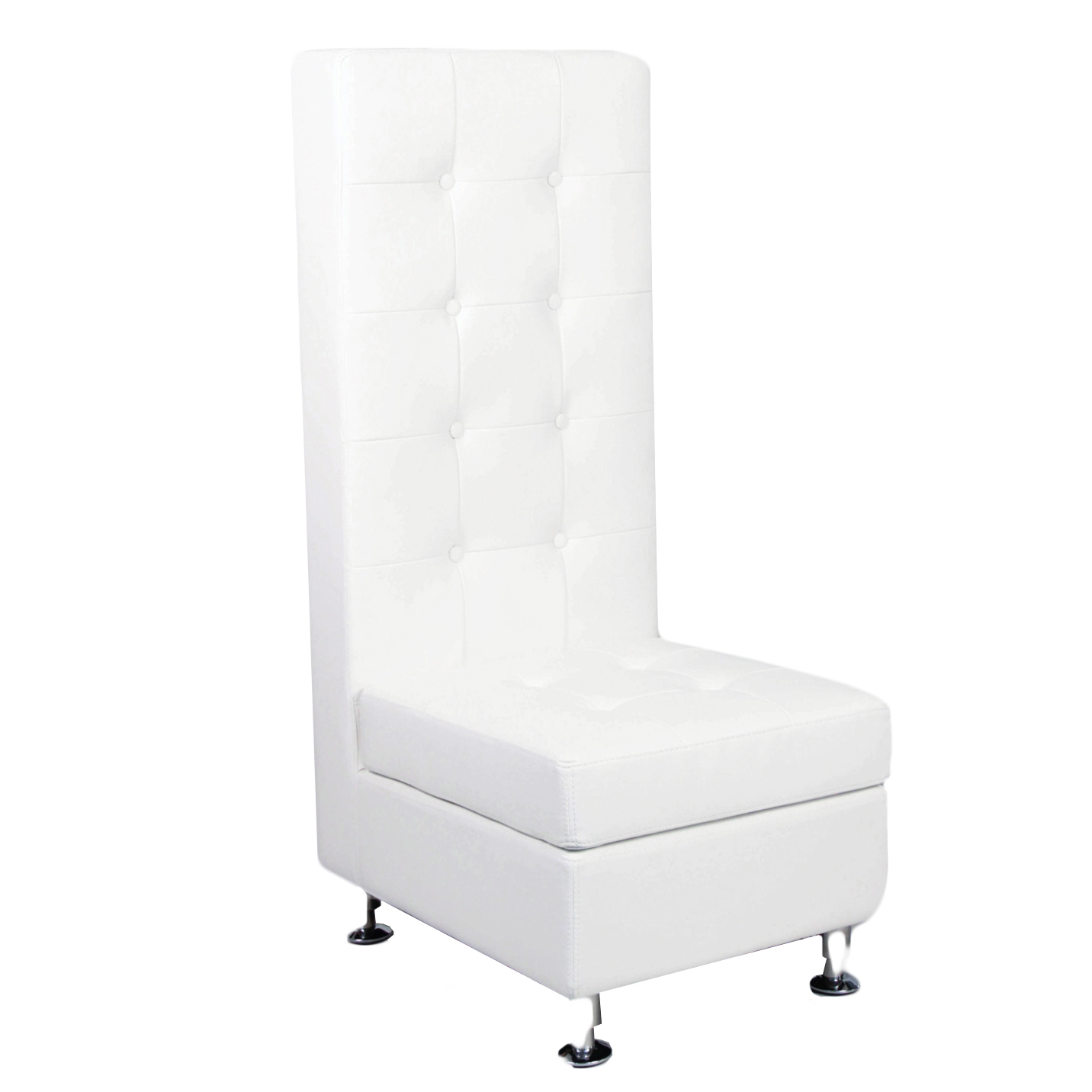 white tufted chair metal chiavari chairs wholesale leather tall back peter corvallis productions
