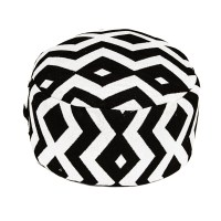 Black and White Patterned Ottoman  Peter Corvallis