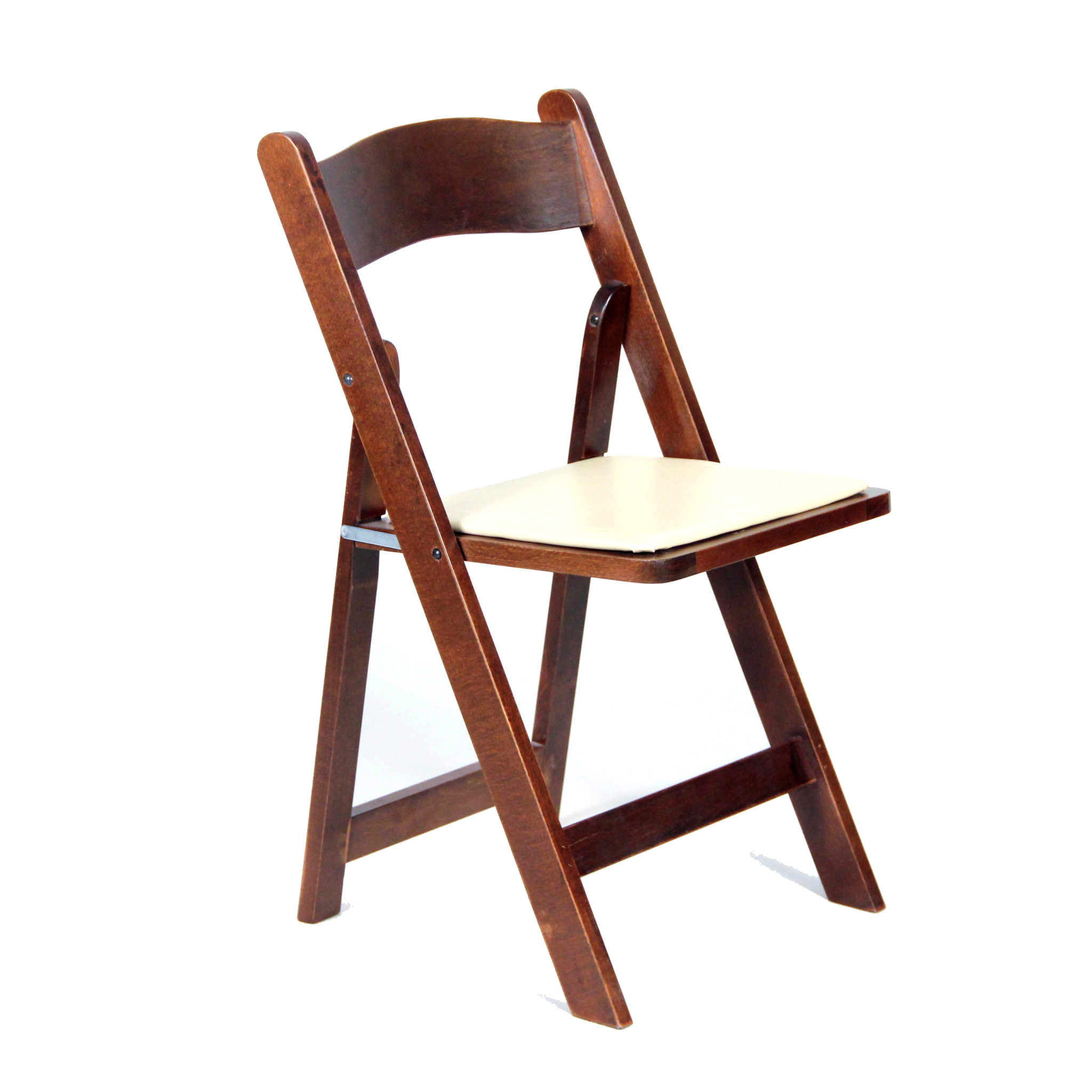 mahogany folding chair with