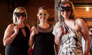 Ladies at a masked ball