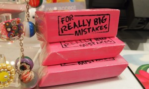 Pile of erasers which you can use for erasing non original content