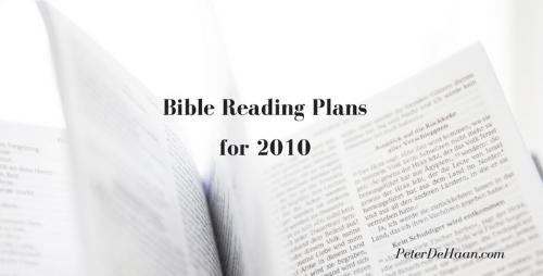 Bible Reading Plans for 2010