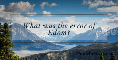 What Was the Error of Edom?