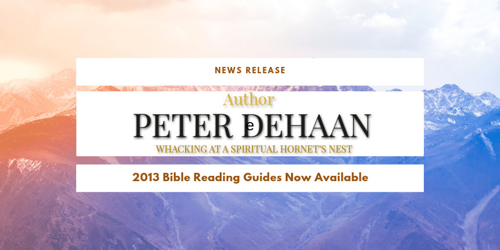 News Release: 2013 Bible Reading Guides Now Available