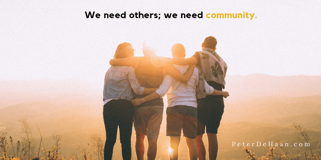 The Importance of Being in Community