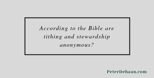 Is Tithing a Spiritual Discipline?