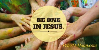 Be one in Jesus.