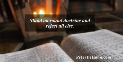 We Must Teach Sound Doctrine