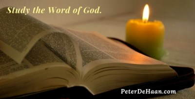 Study the Word of God.