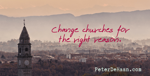 When Should You Change Churches?