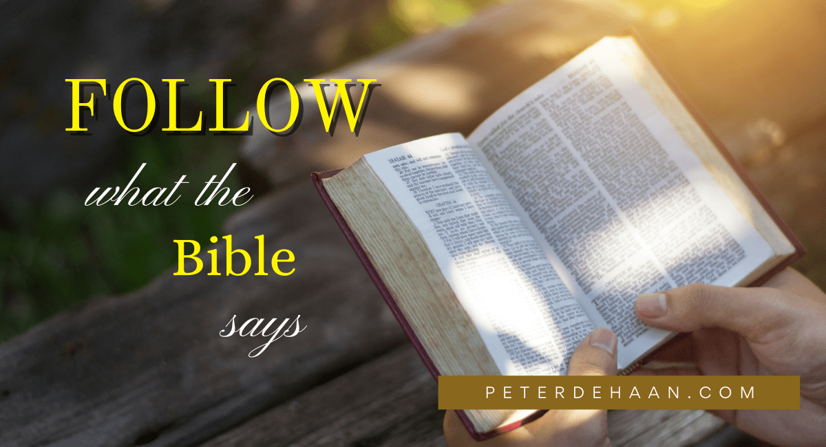 How Much of a Priority Do You Place on What the Bible Says?