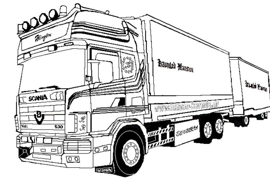 Kleurplaten Scania Logo V8 KERMIS_KLEURPLATEN