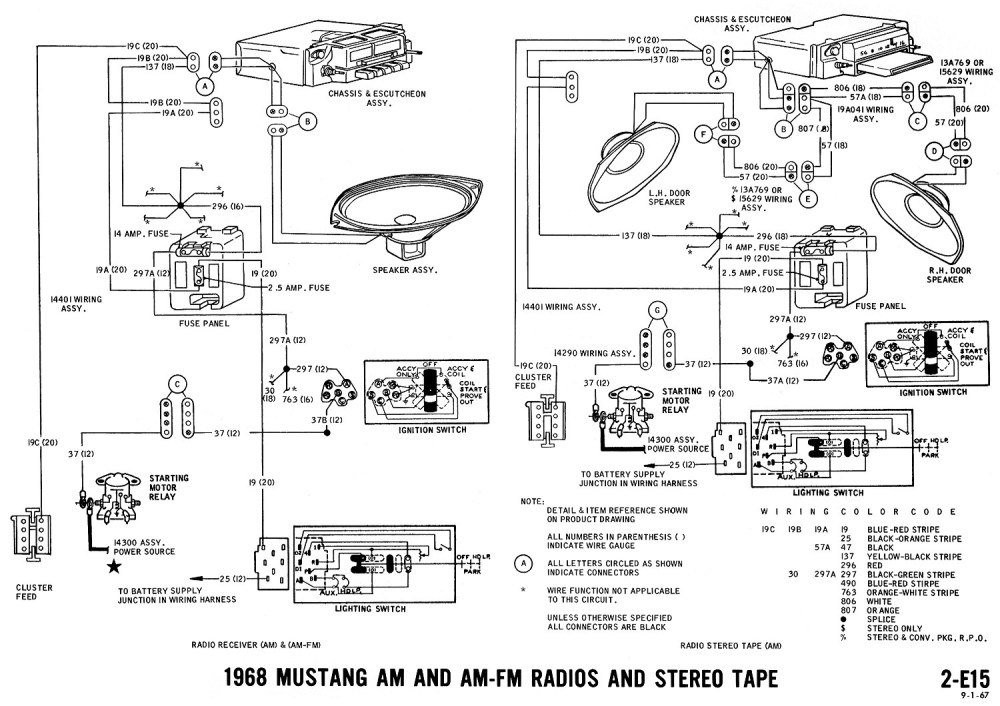 medium resolution of 1969 ford mustang am radio wiring diagram wiring diagram 1969 cougar wiring diagram 1968 mustang wiring