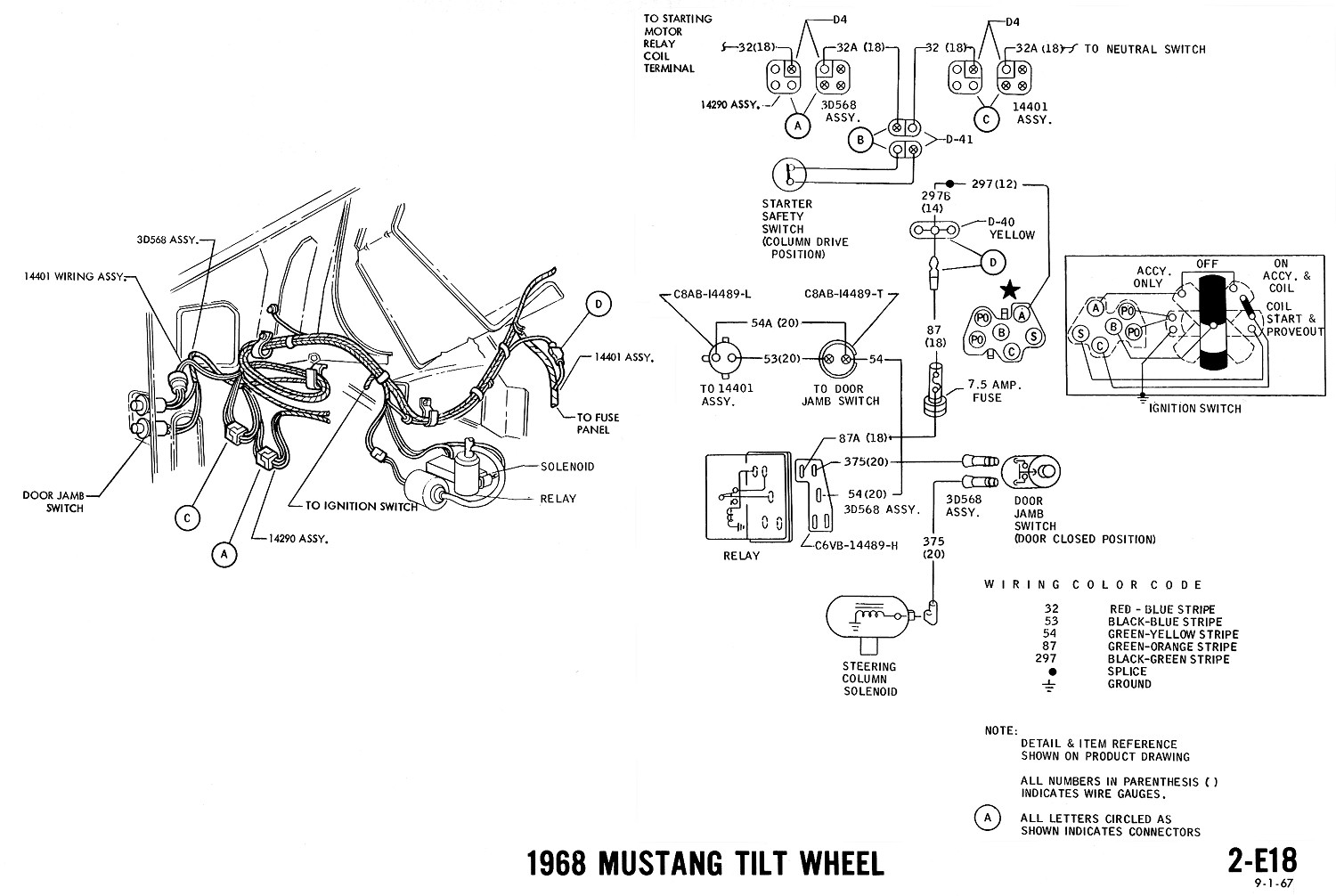 1968 mustang convertible top wiring diagram