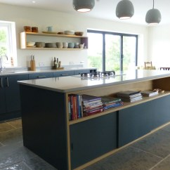 Kitchen Islands Uk Space Saver Table Slate Gray And Oak Bespoke By Peter Henderson Furniture Island With Cabinet Sliding Doors