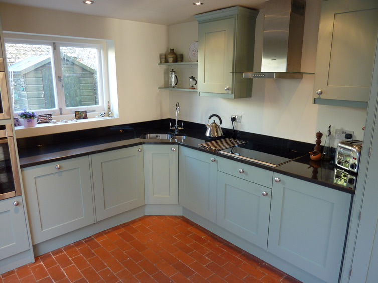 Blue Grey Painted Kitchen By Peter Henderson Furniture Brighton UK