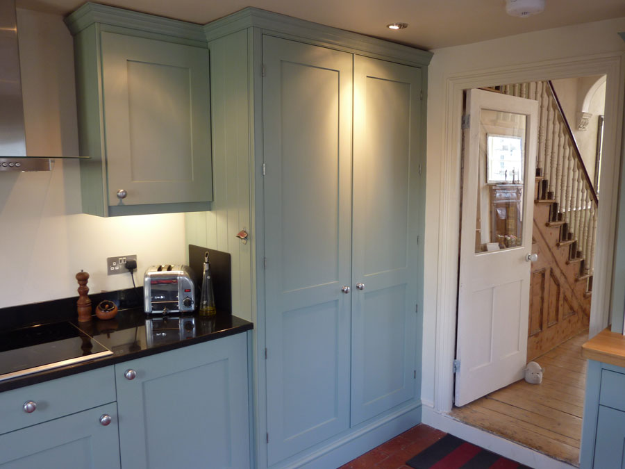 bluegrey painted kitchen by Peter Henderson Furniture