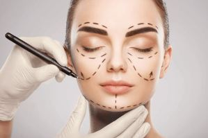 cosmetic surgeon at work