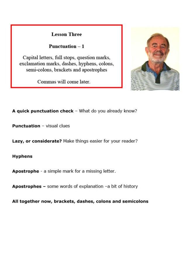 LESSON THREE: PUNCTUATION 1   Peter Inson
