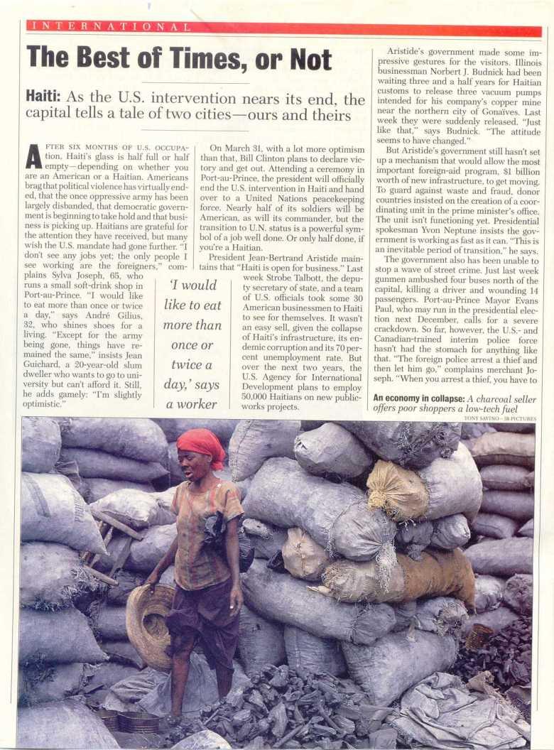haiti newsweek