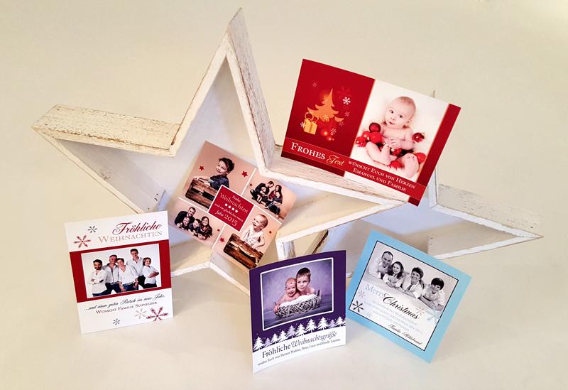 weihnachtskarten mit eurem lieblingsfoto
