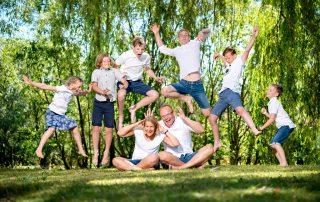 sommershooting mit einer wunderbaren grossfamilie