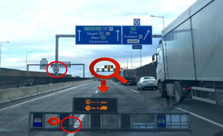 Sebességmérés az M0-s autóúton