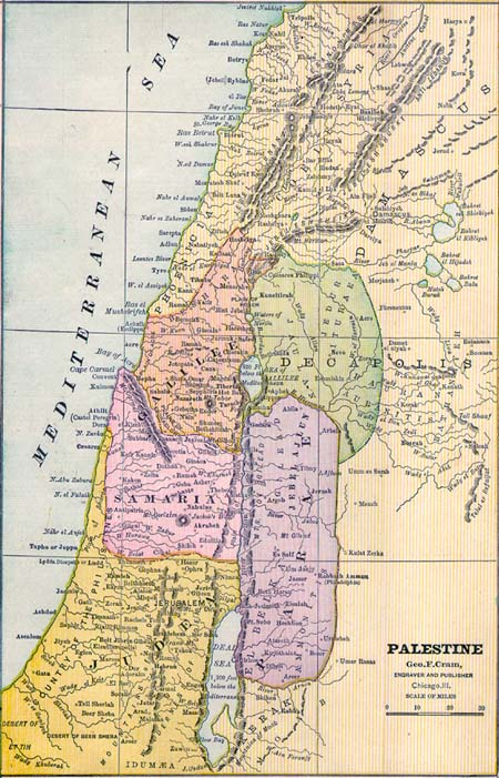 PALESTINE, 1886.[Cram, George Franklin] (1841-1928)