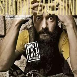 "CD-Cover ""Don't Try This Anywhere"" des italienischen Akkordeonisten Simone Zanchini"