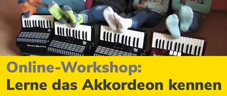 Online-Workshop lerne das Akkordeon kennen