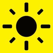 Sonne symbolisiert Freude