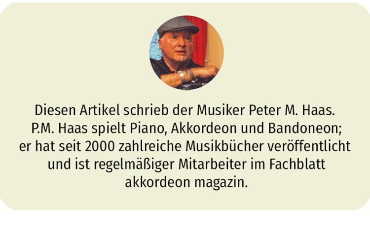 Den folgenden Artikel schrieb der Musiker Peter M. Haas