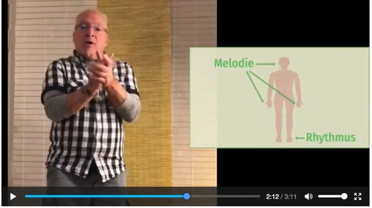 Videoausschnitt aus dem Online Workshop Improvisation von Peter M Haas