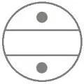 Akkordeon-Register-Symbol-Doppeloktave