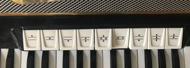 Registerschalter Hohner-Instrument