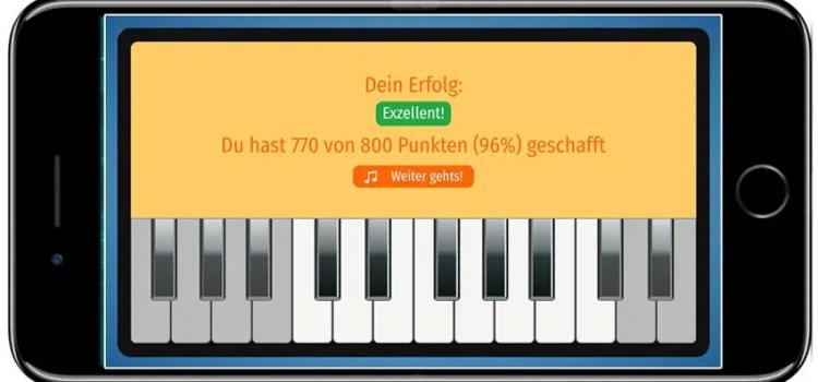 Ear-Trainer-Keyboard-AMADEUS-auf-dem-Smartphone-Erfolgsmeldung