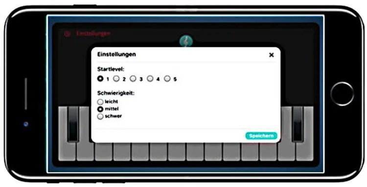 Ear-Trainer-Keyboard-AMADEUS-auf-dem-Smartphone-Menu