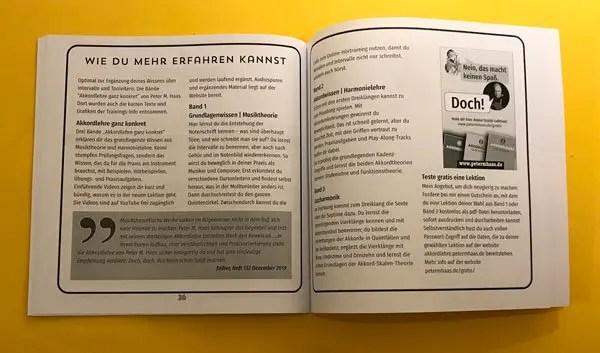 Broschüre zum Ear Trainer amadeus