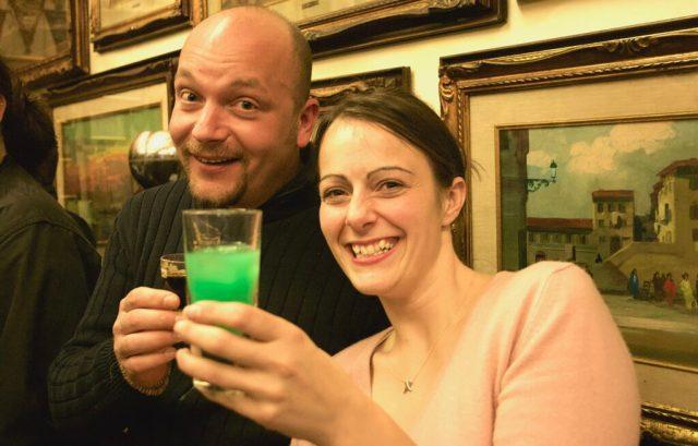 Filippo and Cherry enjoying a Persiana at Bar Civili