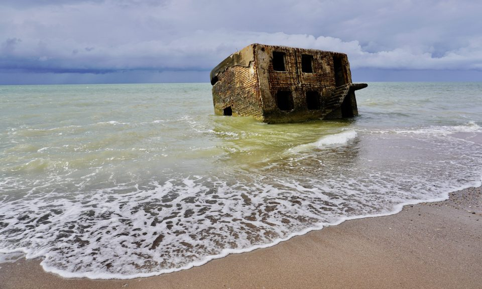 Ruins in the sea, Karosta, Latvia
