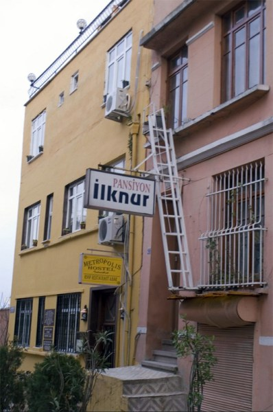Photo of the Ilknur Pension taken by Adam Sloan back in 2007.