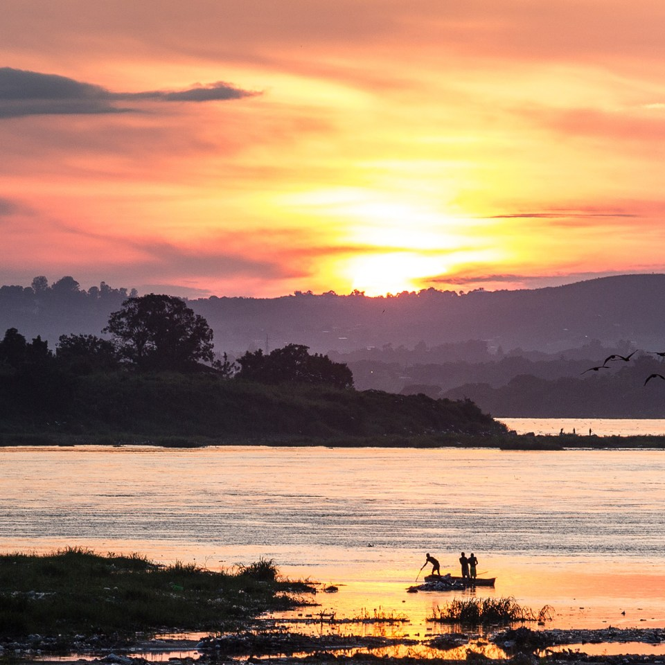 Sunset over the Congo River in the DRC (Adobe Stock)